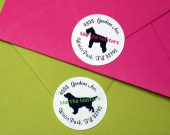 Dog Breed Silhouette Address Labels (set of 30)