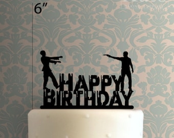 Happy Birthday Zombie 100 Cake Topper