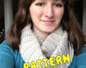 INSTANT DOWNLOAD -- Winter Frost Infinity Scarf Crochet Pattern