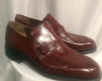1970s chestnut dress shoes