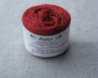 Cinnabar 2/18 Zephyr Wool/Silk Yarn