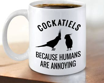 Cockatiel Coffee Mug - Cockatiel Mom Gifts - Quarrion Weiro Cockatoo Bird Lovers
