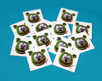 Gummibär (The Gummy Bear) Temporary Tattoo Set of 12 ~ Wearable Art ~ Kawaii Character
