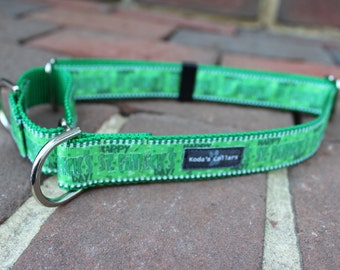 "1"" Happy St Patrick's Day Martingale Collar"