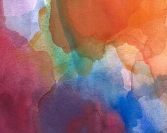 Art Print of Watercolor Painting, Veils