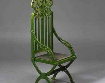 BJD Elven Throne Foldable Doll Chair / Armchair 1/3 SD 70+