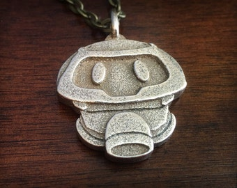 Overwatch Mei Snowball Robot Stainless Steel 3D Printed Pendant Keychain