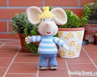 PATTERN: Amigurumi crochet mouse Topo Gigio Amigurumi Crochet Pattern