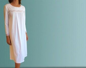 Mornington Winter Organic Cotton Nightgown - White