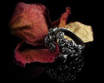 Hedge Rose - Adjustable Spiral Ring in Bronze & Silver
