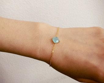 light blue crystal bracelet, Bridesmaid gift