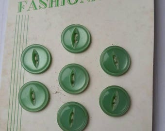 Fashionable buttons Vintage buttons Carded buttons Set of 7  Poly Pearl buttons 1960s Free shipping Canada