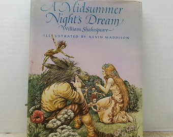 A Midsummer Night's Dream, 1982, William Shakespeare, Kevin Maddison, vintage book
