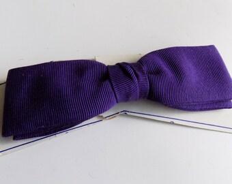 60s Vintage Bowtie, Plum Bowtie, Clip On Tie, Slim Bowtie, Royal Rust Resistant, Purple Bowtie, 60s Bowtie, Mens Accessories, Mens Vintage