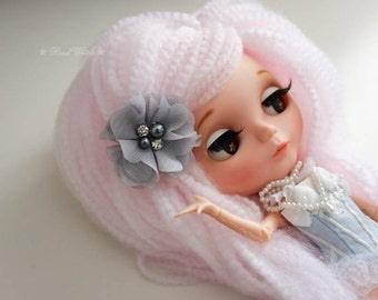 Flower Hair Clip or Brooch Hair Piece for Your Blythe Doll Hair Accessory BJD Choose your color!