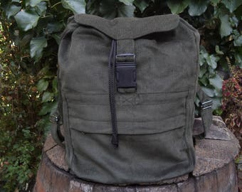 Olive green corduroy backpack