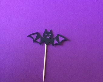 Bat cupcake topper-Halloween
