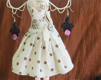 Macrame Earrings, Chic, Floral, Black earrings, Best Gift, Handmade earrings