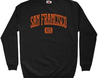 San Francisco 415 Sweatshirt - Men S M L XL 2x 3x - Crewneck San Francisco Shirt - SF, Cali, Bay Area - 4 Colors