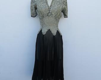 0796 - Vintage - Brocade Embroidery Dress