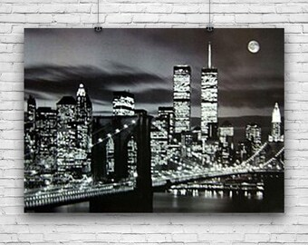 "World Trade Center, Pre-2001 New York Skyline, Photography Poster, 24""x36"""
