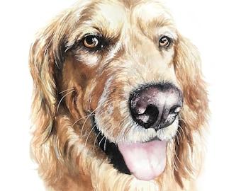 Custom Watercolor Pet Portrait | Dog Portrait | Cat Portrait | Dog Painting | Cat Painting | Animal Portrait | Animal Painting | Watercolour