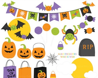 halloween clipart digital clip art trick or treat - Halloween Accents Clipart - BUY 2 GET 2 FREE
