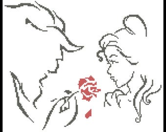 BOGO FREE! Beauty and the Beast  Belle  Beast  Prince  cross stitch pdf Pattern - pdf pattern instant download  # 270