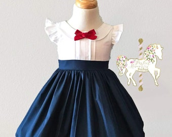 Mary Poppins Dress | Classic Mary Poppins | Spoonful of Sugar | Mary Poppins Costume | Jolly Holiday | School Dress | Uniform Dress | Disney