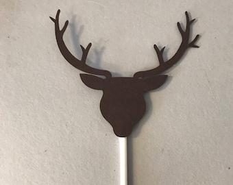 Set of 12 Deer Head Cupcake Toppers