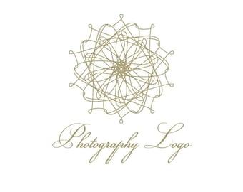 Mandala Logo, Photography Logo, Photographer Logo, Yoga Logo, Spa Logo, Boutique Logo, Gold Logo, Sun Logo, Wedding Logo, Premade Logo