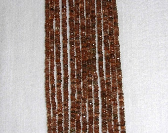 Andalusite, Andalusite Rondelle, Faceted Rondelle, Natural Stone, Semi Precious, Gemstone Rondelle, Natural Andalusite, Half Strand, 4mm