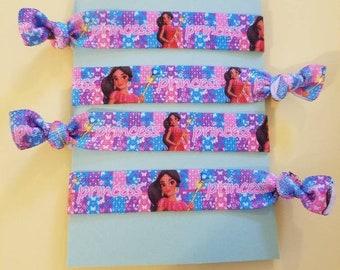 Set of 4 Elena elastic hair ties