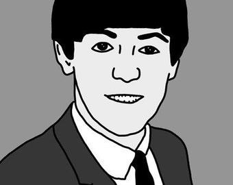 Paul McCartney Mini Art Print