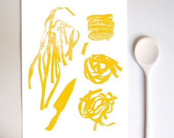 "Fresh Pasta - 11""x15"" - Art for Kitchen - Kitchen Decor - Italy - Giclée print"