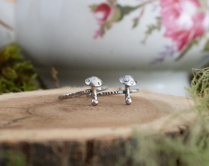 Toadstool Stacking Ring | Made to Order | Sterling Silver