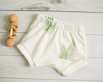 Organic Baby Shorts \\ Boho Baby Shorties \\ Baby Shorties \\ Toddler Shorts \\ Fern Shorts \\ Modern Baby Shorties