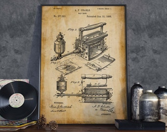 Vintage Iron Patent Print  Christmas Gift  Home Decor  Gift for Mom  Wall Poster  Gift for Tailor  Tailor Shop Decor  HPH061