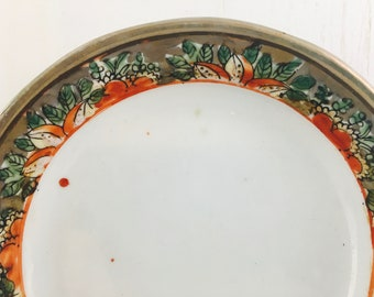 Hand Painted Dish, Oriental, Asian Influence