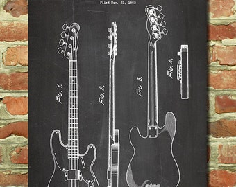 Electric Guitar Decor Fender Wall Art Gift For Player Music