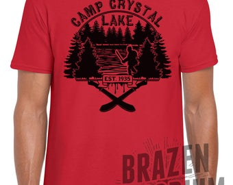 Camp Crystal Lake Est 1935 Tee - FRIDAY THE 13th - Jason Voorhees, Camp Blood, Slasher Movie, Horror Film, Cult Classic, T-Shirt ©