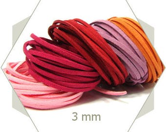 5 m cord 3mm red and pink assortment CSMIX2, all beads will