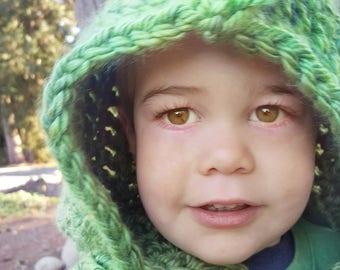 Dinosaur Hood: Dinosaur Costume, Toddler Costume, Hooded Scarf, Cowl, Hood Costume, Montessori, Confidence Hoods, Character, Social Skills