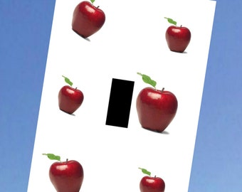 Red Apples Fruit Kitchen Apple Room Home Decor Wall Art Unique Light Switch  Plate Cover Outlets