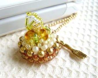 Seed Bead Kit MiyukI No. 21 FRESH LEMON TART Sweet Charm Beading Kit Jewelry Making Kit