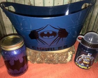 Batman Gift Basket, Batman Easter Basket, Custom Gift Basket, Batman Gift Set, Personalized, Batman, Batman Nightlight, Batman Water Bottle
