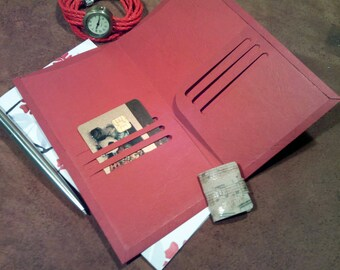 Midori accessories pocket folder planner insert dashboard card holder tn fauxdori CHOICE of 6 SIZES