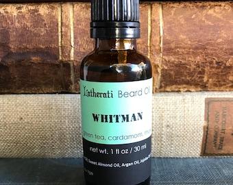 Whitman Beard Oil - green tea, cardamom, musk