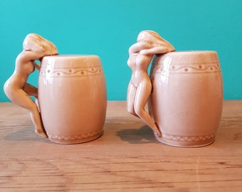 Beautiful Nude Salt and Pepper Shaker - Dorothy Kindell