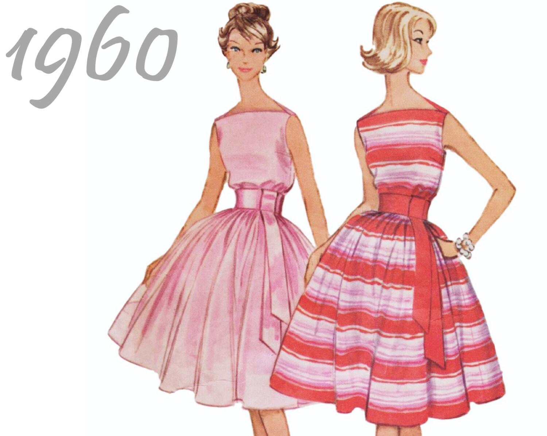 Vintage Vestido de cóctel vestido de fiesta solía 5313 sz 16 b 36 ...